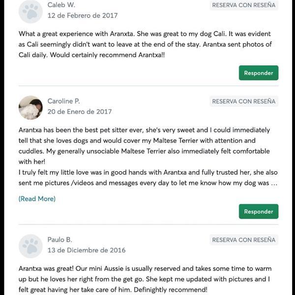 Arantxa Pet hotel experience in real homes! 10